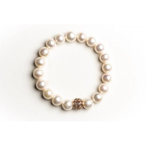 Nilly Apyrankė su natūraliais perlais ir auksu BRG 0017 1.92g