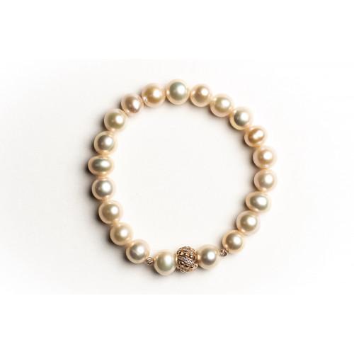 Nilly Apyrankė su natūraliais perlais ir auksu BRG 0018 1.56g