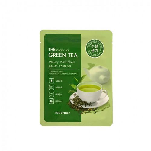 TONYMOLY The Chok Chok Green Tea Drėkinanti veido kaukė su žaliaja arbata 20g