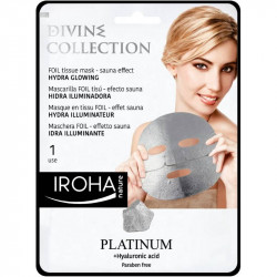 IROHA Divine Collection Foil Tissue Mask Hydra Glowing Odą skaistinanti veido kaukė 25ml