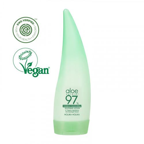 Holika Holika Aloe 97% Intensive Moisturizing Soothing Lotion Intensyviai drėkinantis kūno losjonas su alavijų ekstraktu 240ml