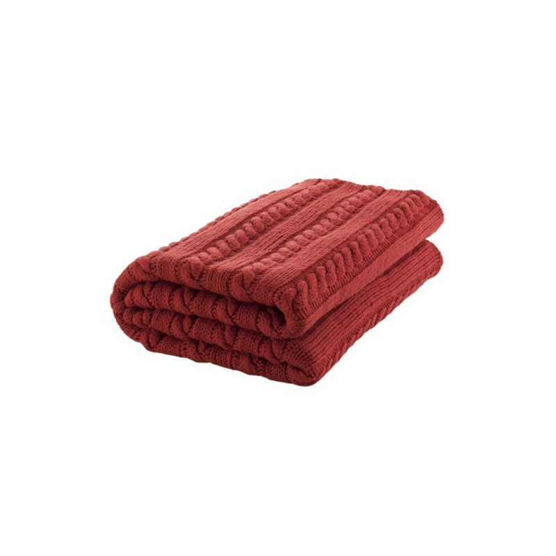 Nord Snow Merino vilnos pledas Classic raudonas