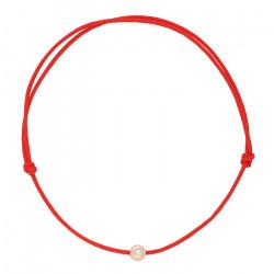 Nilly Raudona apyrankė su auksu ir briliantu BRG 0020 0.55-0.61g