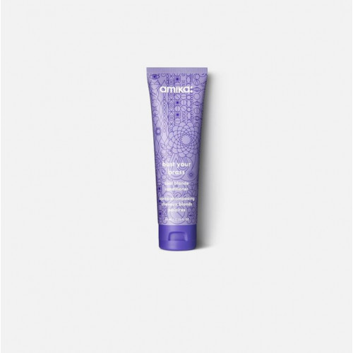 Amika Bust Your Brass Cool Blonde Conditioner Kondicionierius šviesintiems plaukams su ulta vioteto pigmentu 250ml