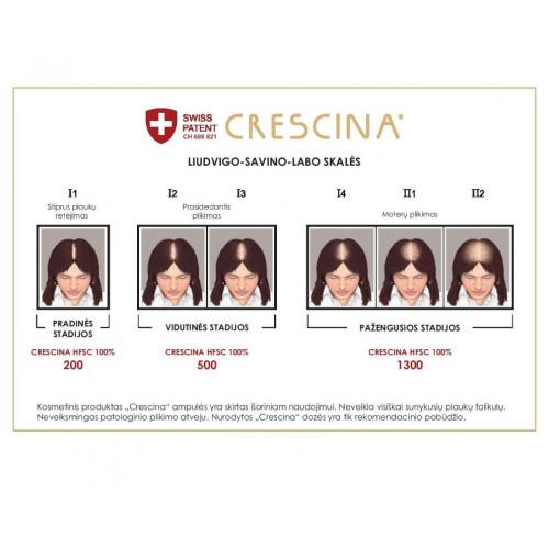 Crescina Transdermic Technology Complete Treatment 1300 Woman Ampulių kompleksas moterims 20amp. (10+10)