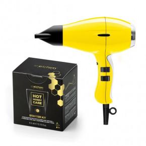 3900 Healthy Ionic Yellow Daisy plaukų džiovintuvas (2000-2400W) + Starter Kit Rinkinys DOVANŲ
