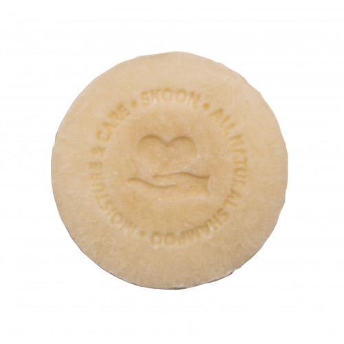 Skoon Solid Shampoo Sensitive Moisture & Care Kietasis šampūnas jautrių ir pažeistų plaukų priežiūrai 90g