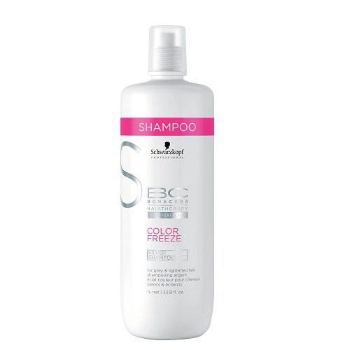 Schwarzkopf BC Color Freeze Silver Sidabro atspalvį suteikiantis plaukų šampūnas 250ml