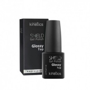 Kinetics Shield Gel Polish Glossy Top Gelio-lako viršutinis sluoksnis 11ml