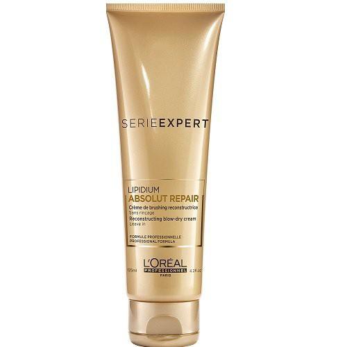 L'Oréal Professionnel Absolut Repair Lipidum Blow-Dry Cream Nenuplaunamas nuo karščio apsaugantis plaukų kremas 125ml
