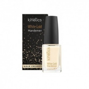 Kinetics White Gold Hardener Baltojo aukso stipriklis nagams 15ml
