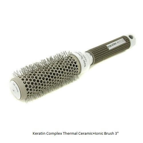Keratin Complex Thermal Ceramic+Ionic šepetys 3 coliai