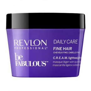 Revlon Professional Be Fabulous C.R.E.A.M. Daily Care Lightweight Kaukė ploniems plaukams 200ml