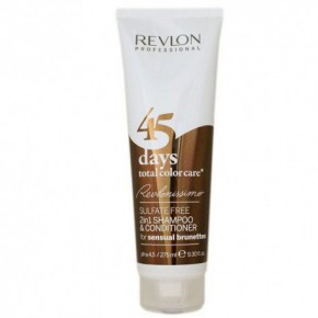 Revlon Professional 45 days Total Color Care Sensual Brunettes Šampūnas - kondicionierius rudiems, kaštoniniams tonams 275ml