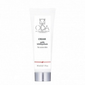 ODA Cream With Ichthyol, For Acne Skin Veido kremas su ichtiolu spuoguotai odai 30ml
