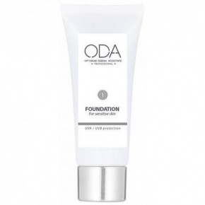 ODA Foundation For Sensitive Skin Maskuojamasis jautrios odos kremas Nr. 1 30ml