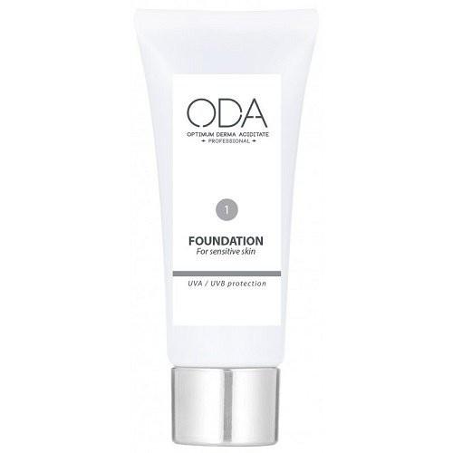 ODA Foundation For Sensitive Skin Maskuojamasis jautrios odos kremas Nr. 1 30ml