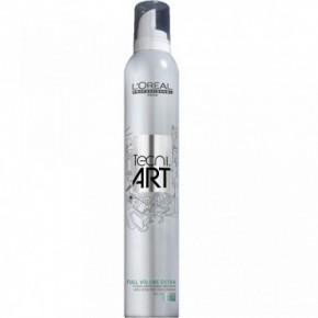 L'Oréal Professionnel Tecni Art Full Volume Extra Ypač stiprios fiksacijos plaukų putos suteikiančios purumo 400ml