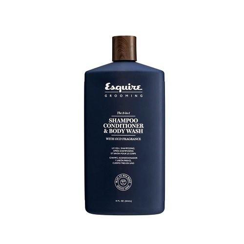 Esquire Grooming 3 in 1 plaukų šampūnas, kondicionierius ir kūno prausiklis 30ml