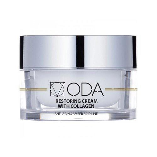 ODA Restoring Cream With Collagen Atstatomasis veido kremas su kolagenu 50ml