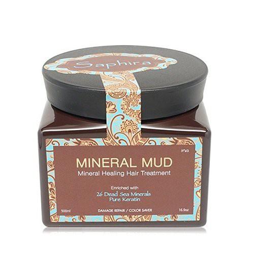 Saphira Mineral Mud Mineralinė kaukė plaukams su keratinu 70ml