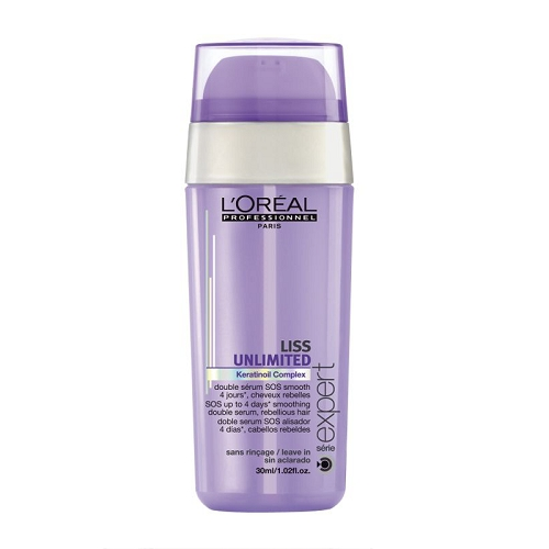 L'Oréal Professionnel Liss Unlimited Double Serum Dvigubo poveikio serumas plaukams išlyginti ir apsaugoti nuo šiaušimosi 30ml