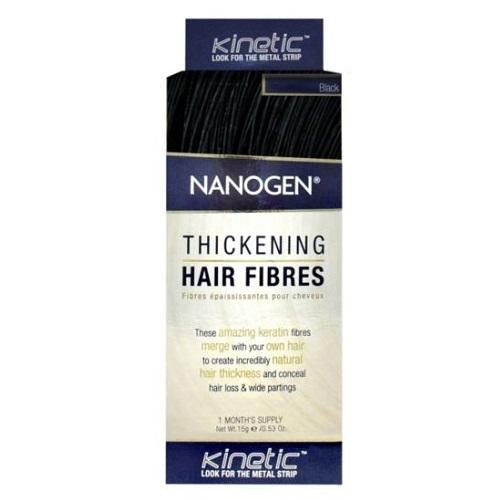 Nanogen Plaukų pudra juoda  15g