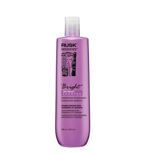 Rusk Bright Tonuojantis šampūnas šviesintiems plaukams 400ml
